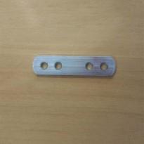 União Reta 4 Furos Zincada (Embalagem: 1, 5 ou 10 unidades)