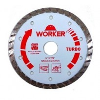 "Disco Diamantado Turbo 125mm (5"") * 22,2mm Worker"