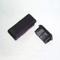 Sapata Retangular Interna PVC Preta (Embalagem: 4 Unidades)