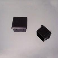 Sapata Quadrada Interna PVC Preta para Móveis (Embalagem: 4 Unidades)