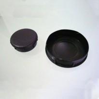 Sapata Redonda Interna PVC Preta (Embalagem: 4 Unidades)