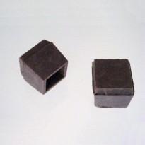 Sapata Quadrada Externa Borracha para Móveis (Embalagem: 4 Unidades)