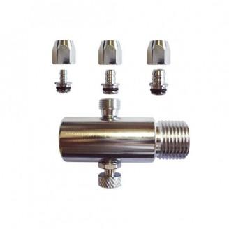 Adaptador Cromado para Filtro Rosca 1/2 Saída Lateral para Espigão Universal com Registro Integrado  Repacar
